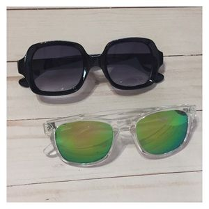 Black & Clear Sunglasses 2 Pairs